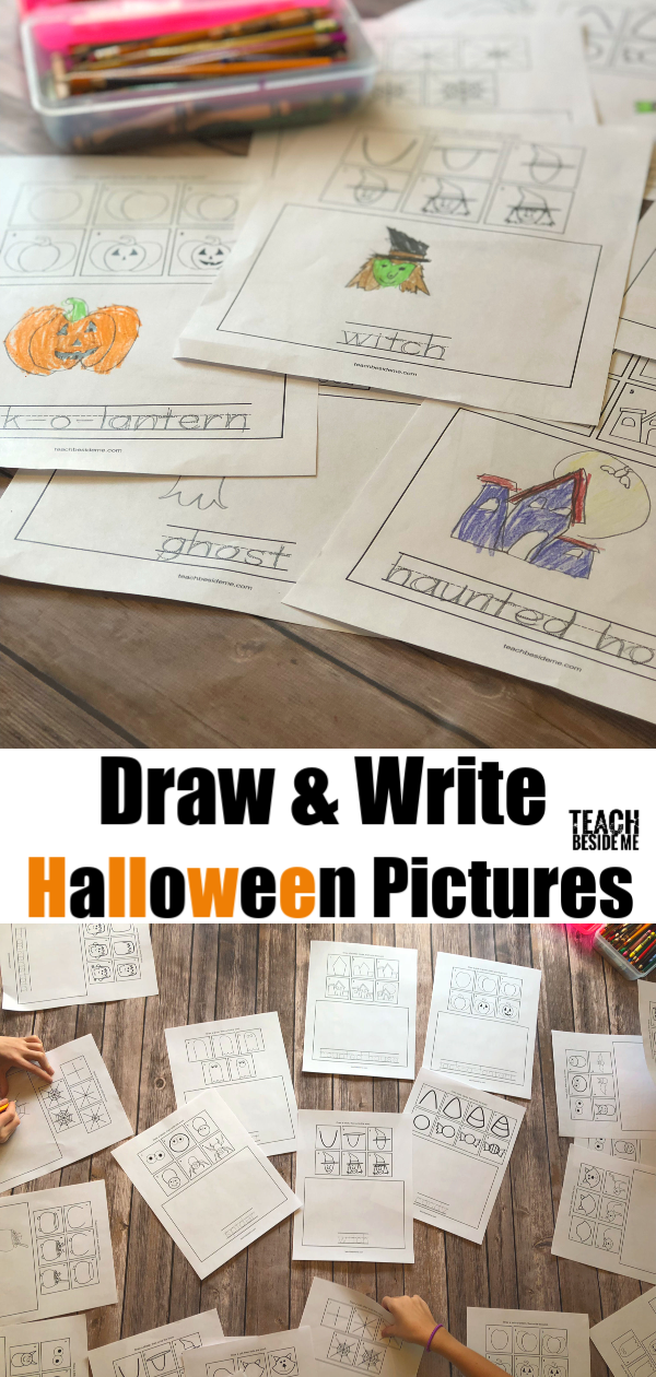 Write and draw Halloween pictures