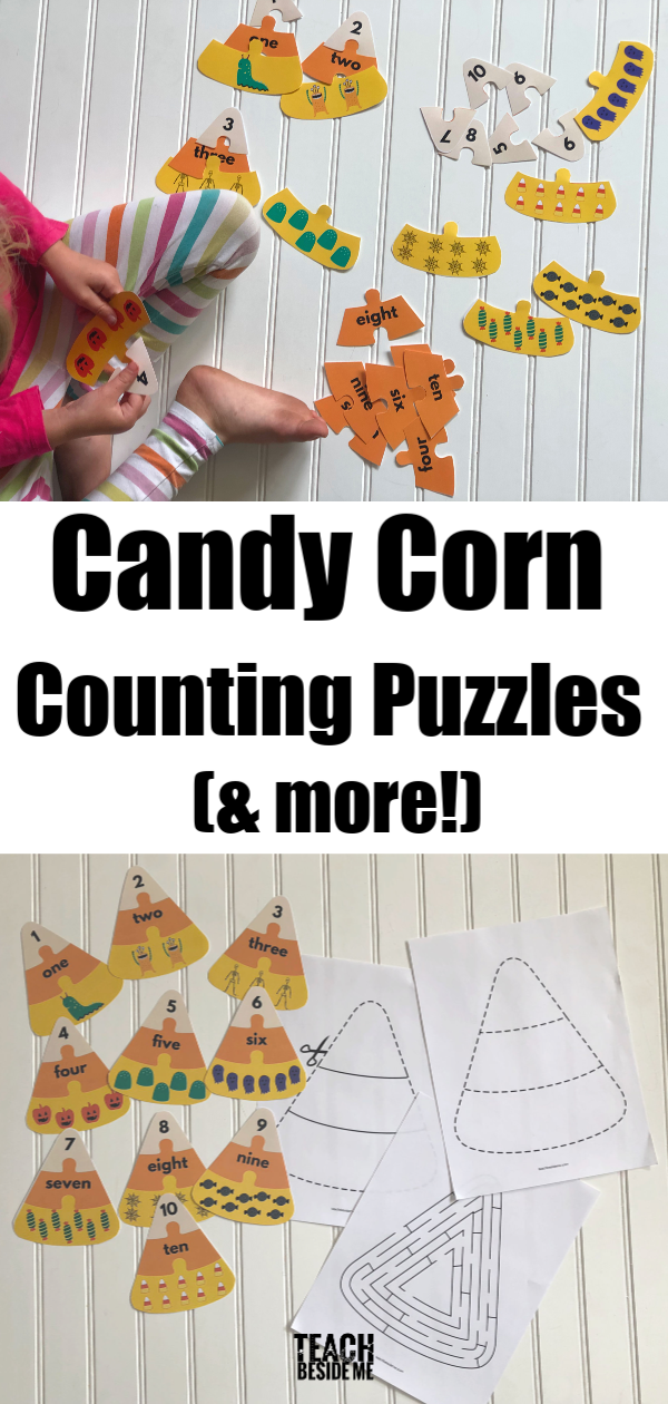 Halloween Math- candy corn counting puzzles and more