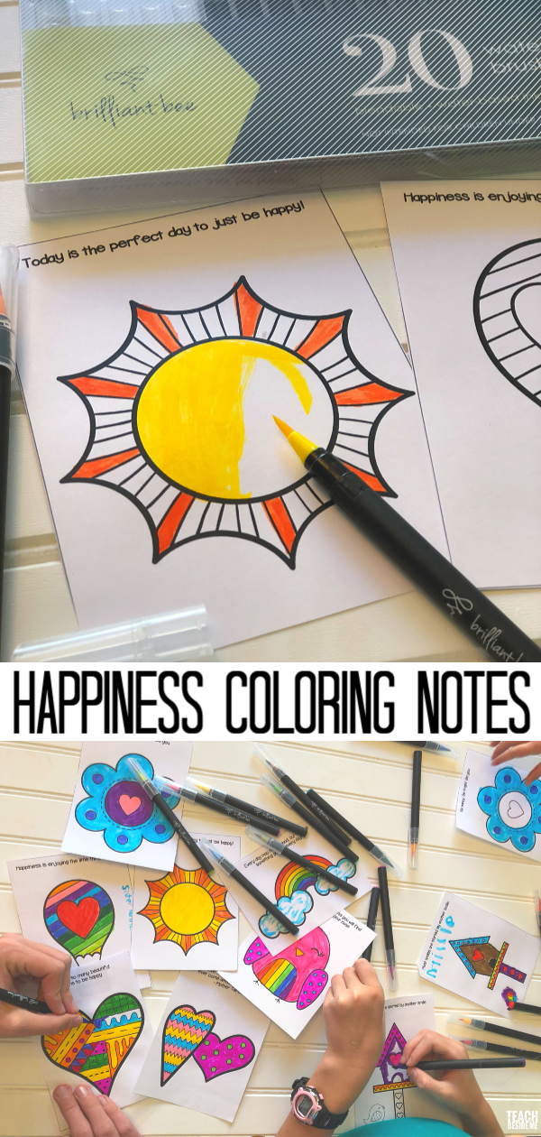 Kindness and Happiness coloring notes