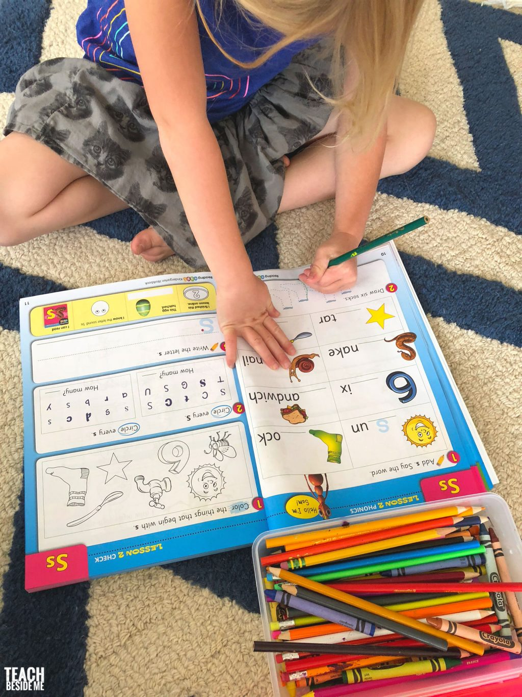reading eggs kindergarten workbook