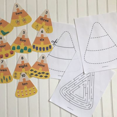 Halloween Math: Candy Corn Counting Puzzles