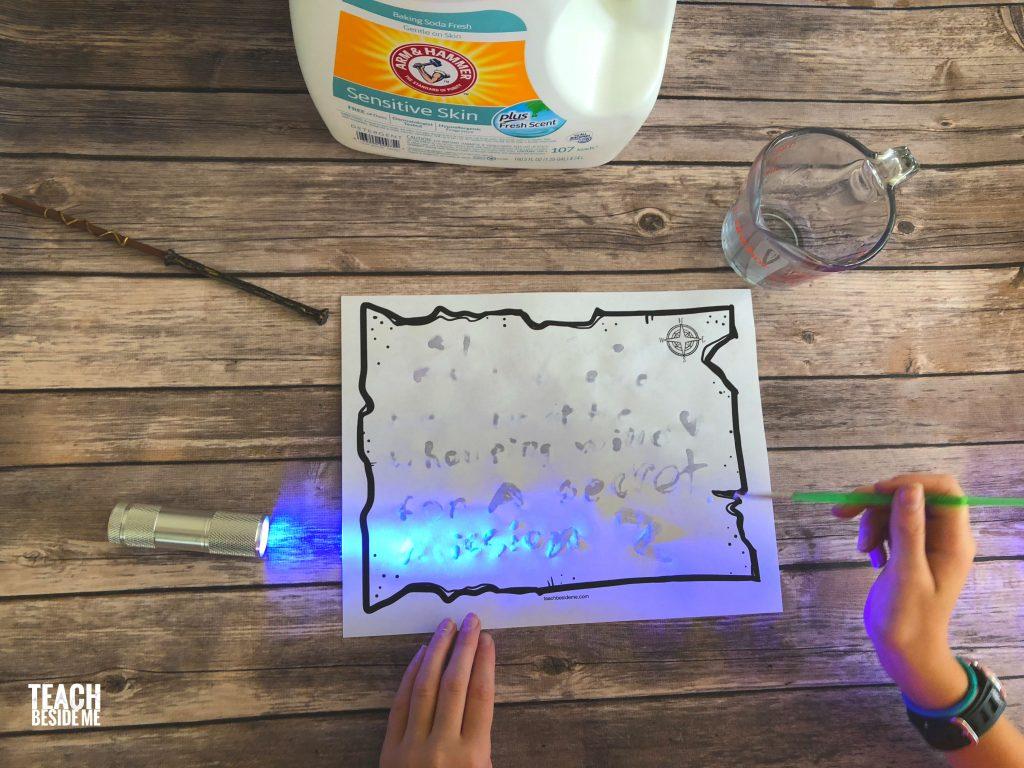 harry potter stem: invisible ink secret messages