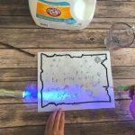Glowing Invisible Ink Secret Messages