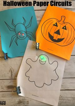 Halloween STEM~ Paper Circuits