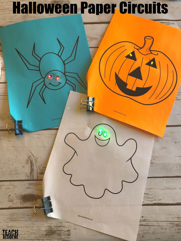 halloween stem paper circuits teach beside me rh teachbesideme com