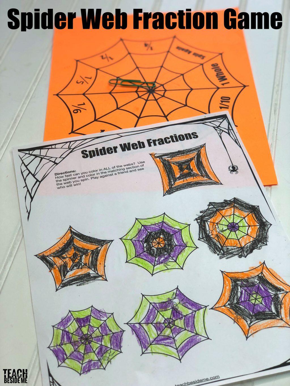 Spider Web Fraction Game