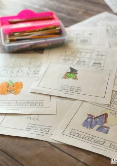 How to Draw Halloween Pictures: Draw and Write Printable