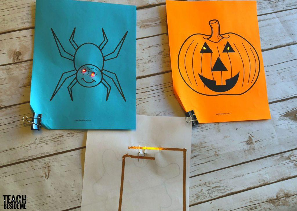 halloween stem- paper circuits
