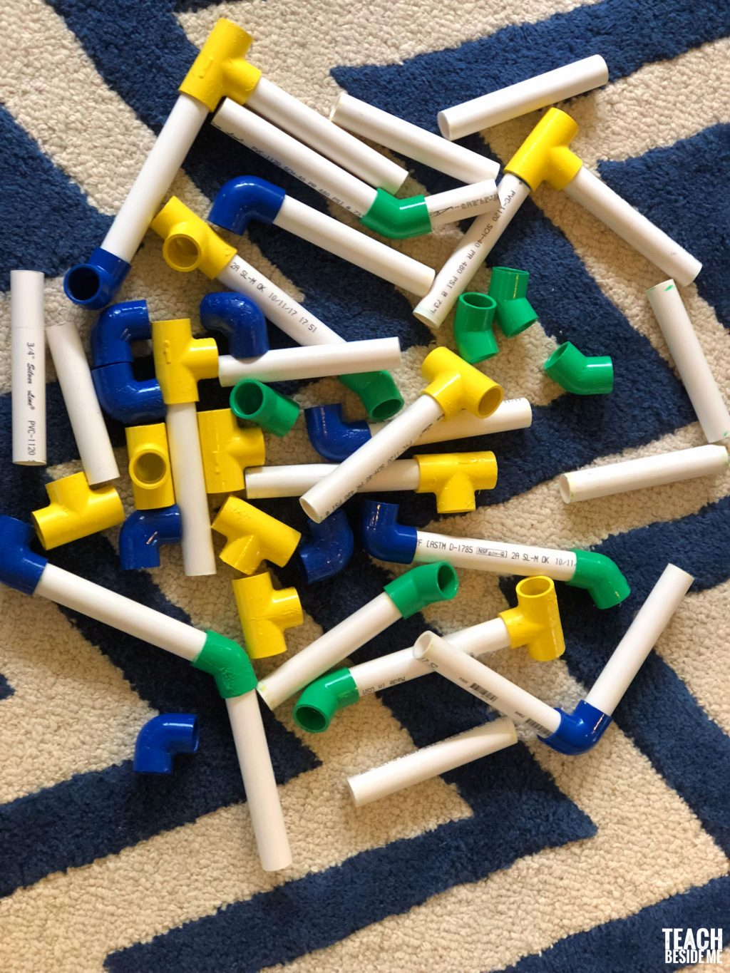 homemade building toys with PVC Pipes- STEM Engineering