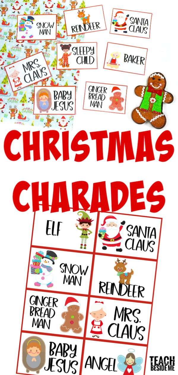 Christmas Charades.Christmas Charades Cards For Kids Teach Beside Me