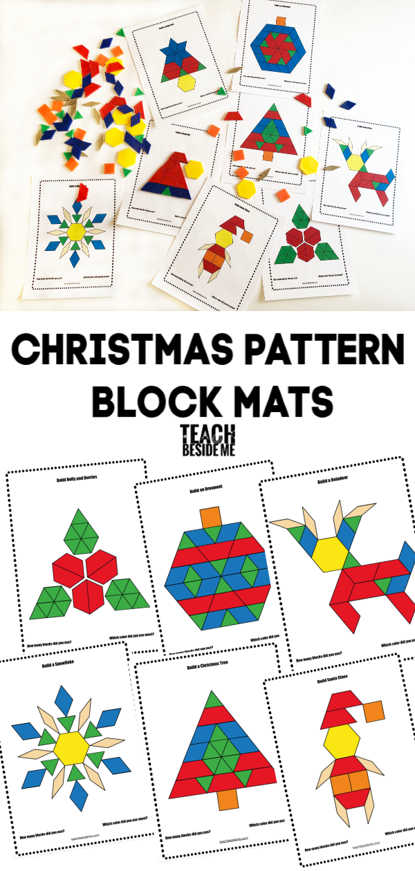 Christmas pattern block mats