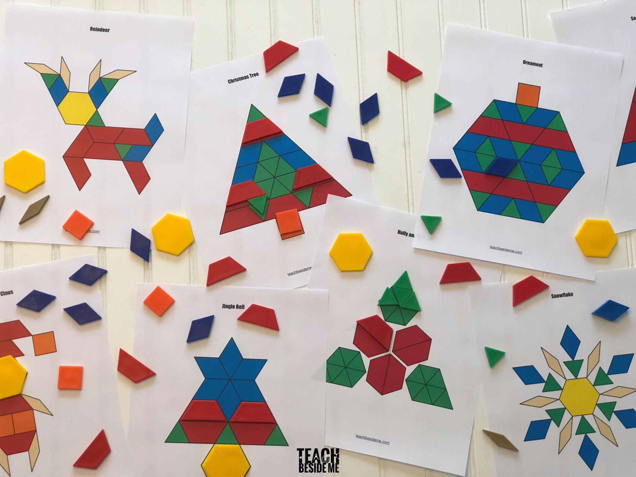 Christmas shape pattern block mats