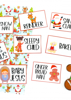 Christmas Charades Cards for Kids