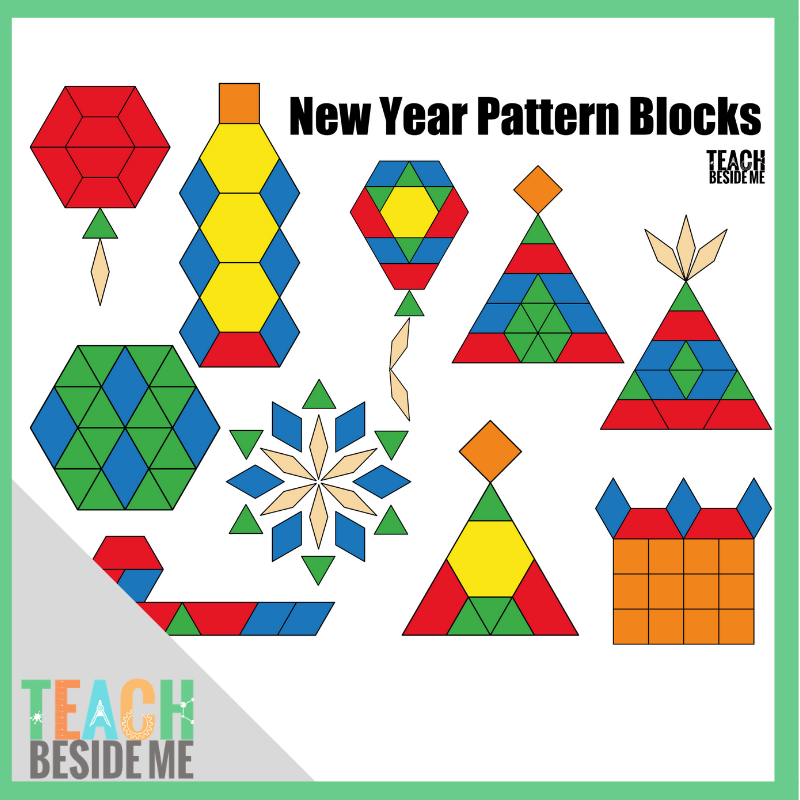 photo regarding Printable Pattern Blocks named Contemporary Yr Routine Block Mats