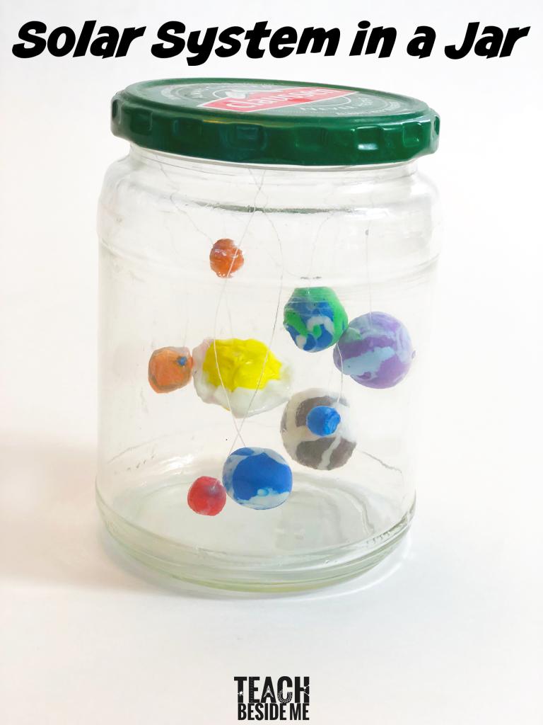 Solar system model in a jar