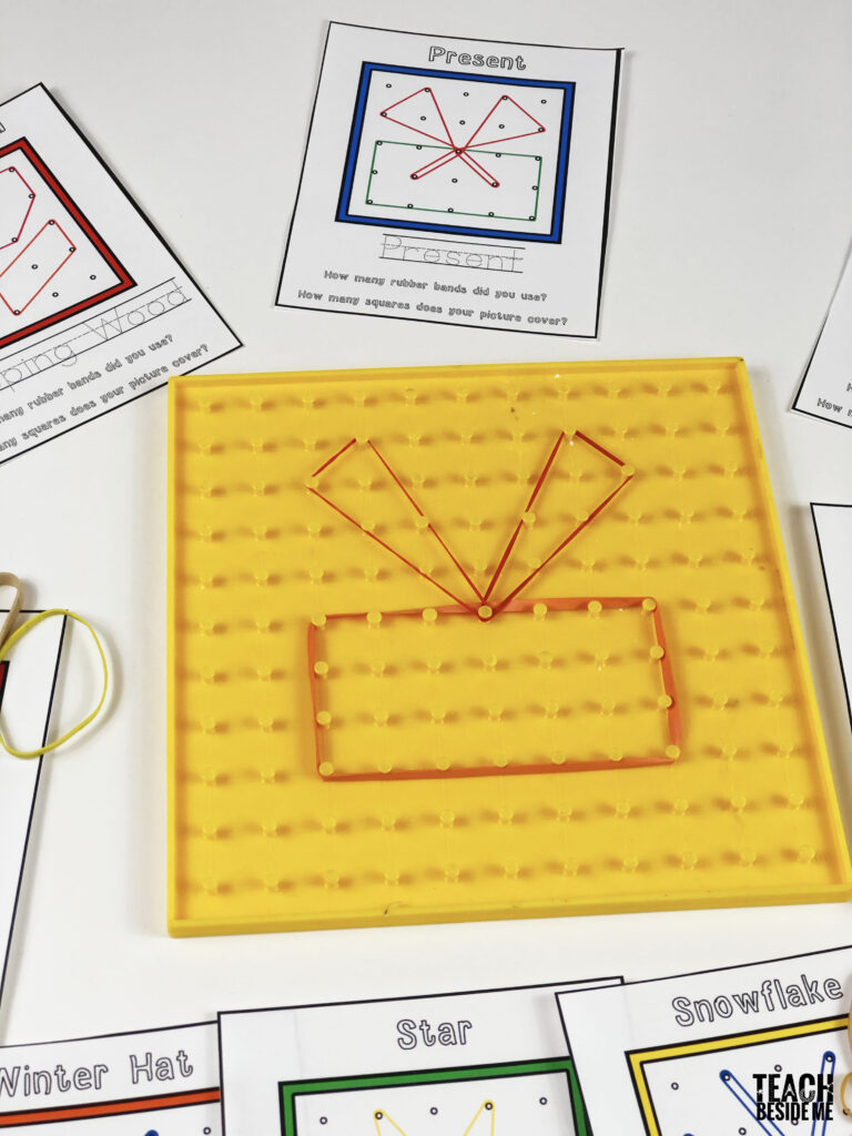 hands-on math- winter geoboard patterns