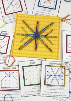 Winter Geoboard Pattern Cards