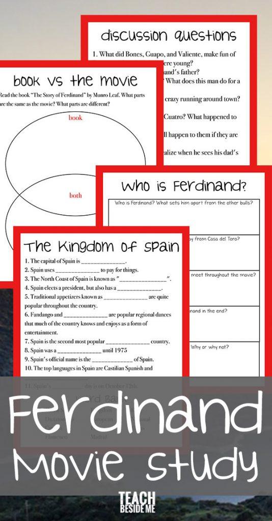 Ferdinand Unit Study- Book vs Movie