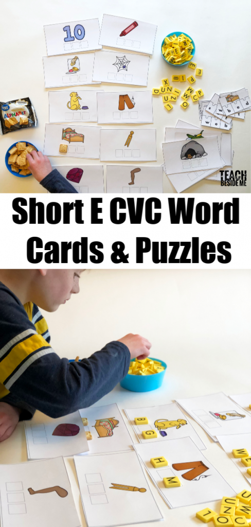 Short E CVC Word Cards