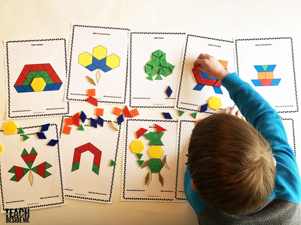 pattern block mats st patricks day