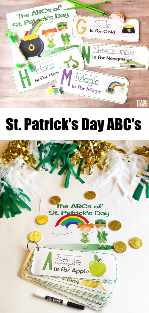 preschool st patrick's day abc's