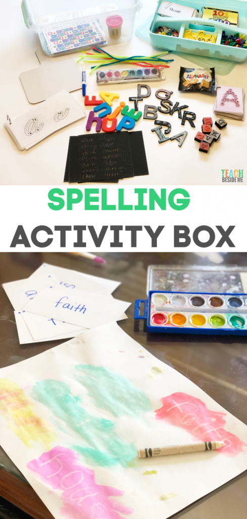 spelling activity box