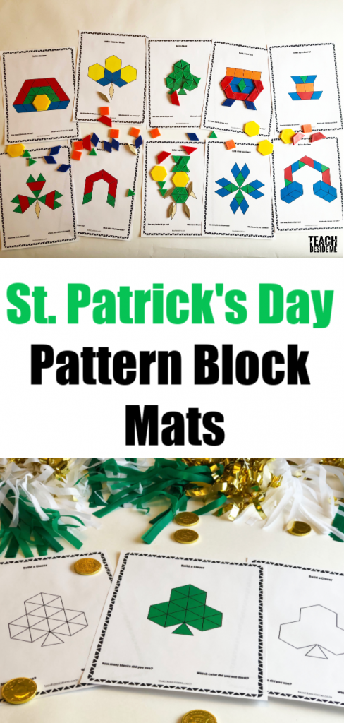 st patrick's day pattern block mats
