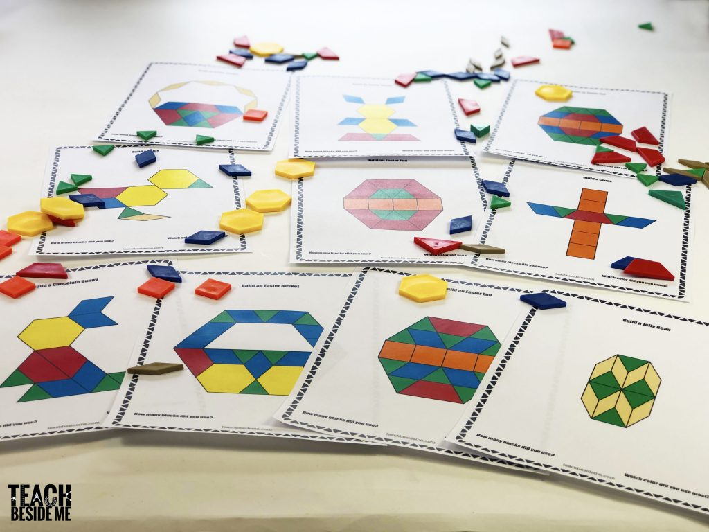 spring easter pattern block mats