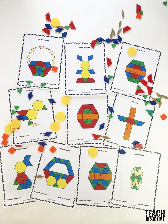 easter pattern block mats