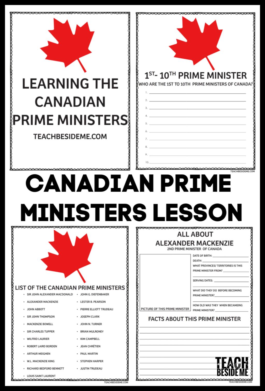 canada prime minister lesson