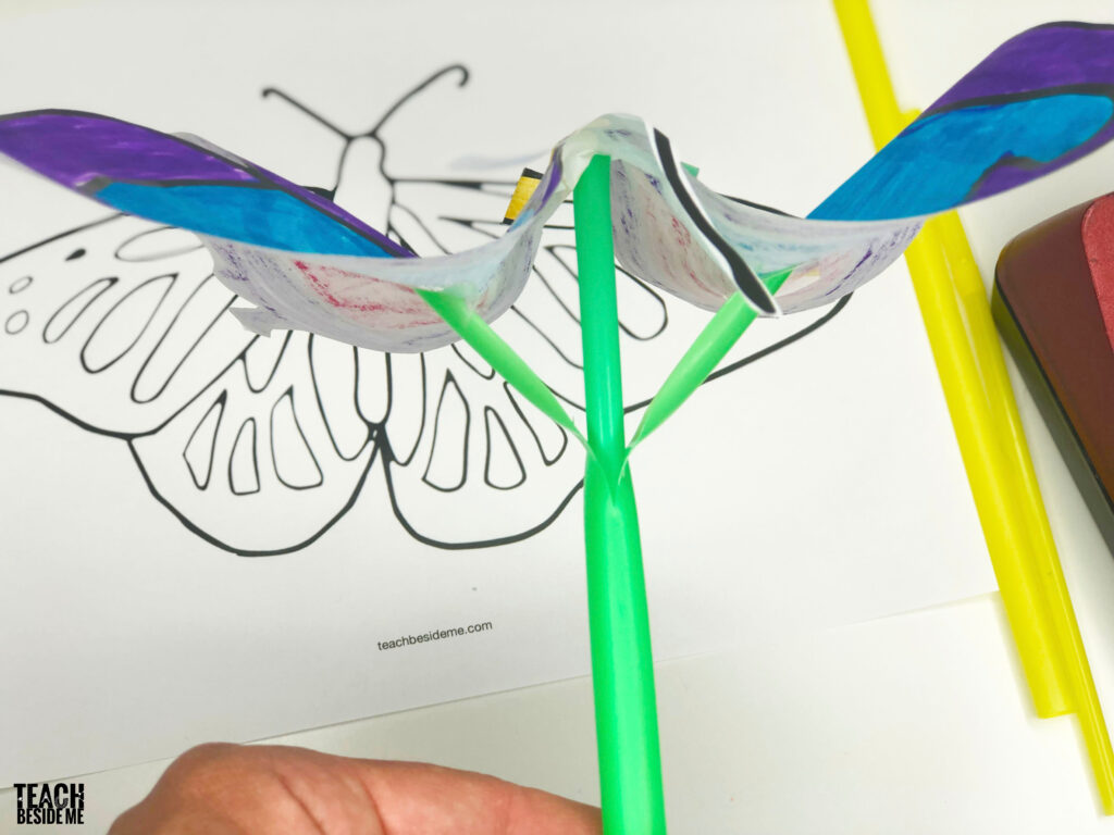 flapping butterfly STEM craft