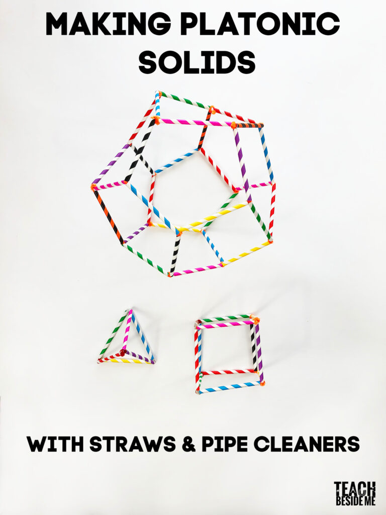 Making platonic solids with straws and pipe cleaners