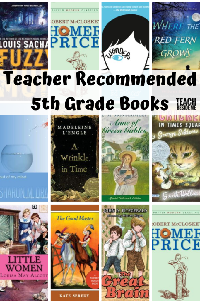 teacher recommended 5th grade books