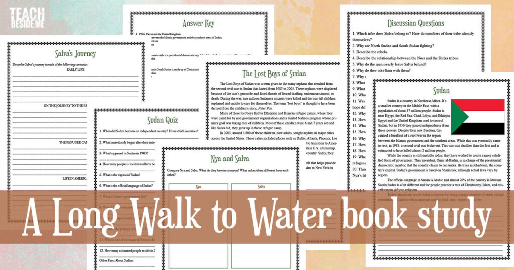 A Long Walk to Water book study literature unit