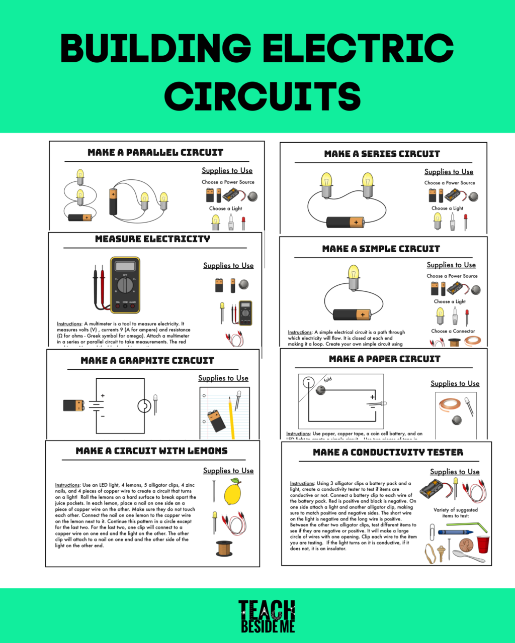 Worksheets High School Electricity Circuits Worksheets Circuit