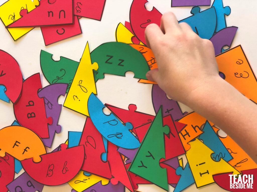 cursive alphabet puzzles