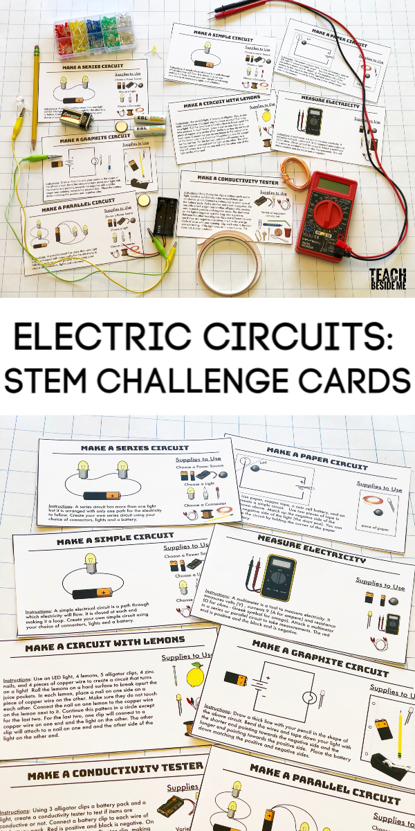 Building Electric Circuits STEM challenge cards