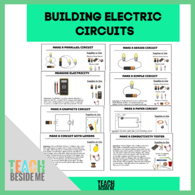 building electric circuits STEM cards