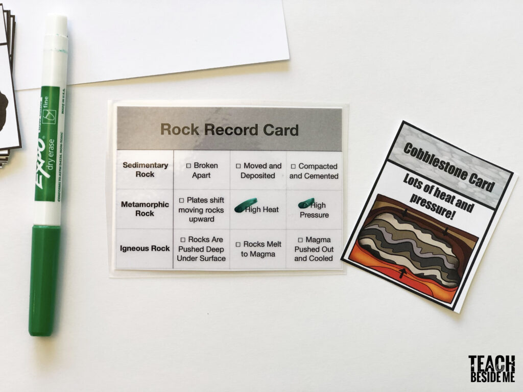 rock record card
