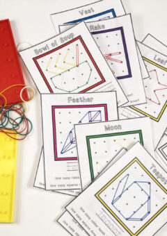Autumn Geoboard Pattern Cards