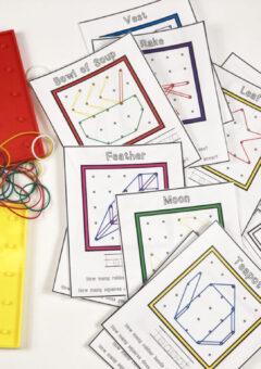 Autumn Geoboard Pattern Cards