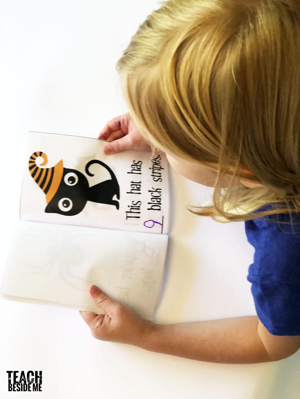 kindergarten halloween counting book