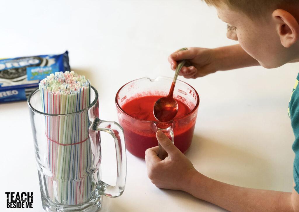 making jello worms