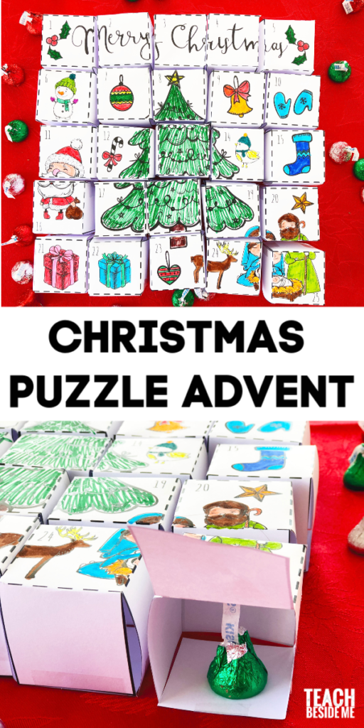 Puzzle Cube Christmas Advent Calendar for Kids