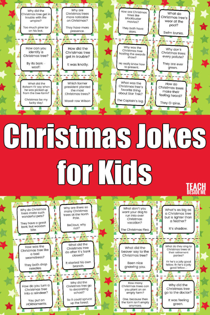 Christmas Jokes For Kids Teach Beside Me