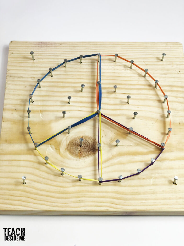 circle fractions with circle geoboard