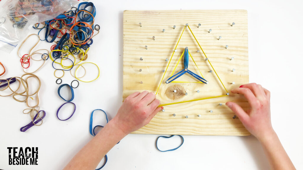 circle geoboard math art