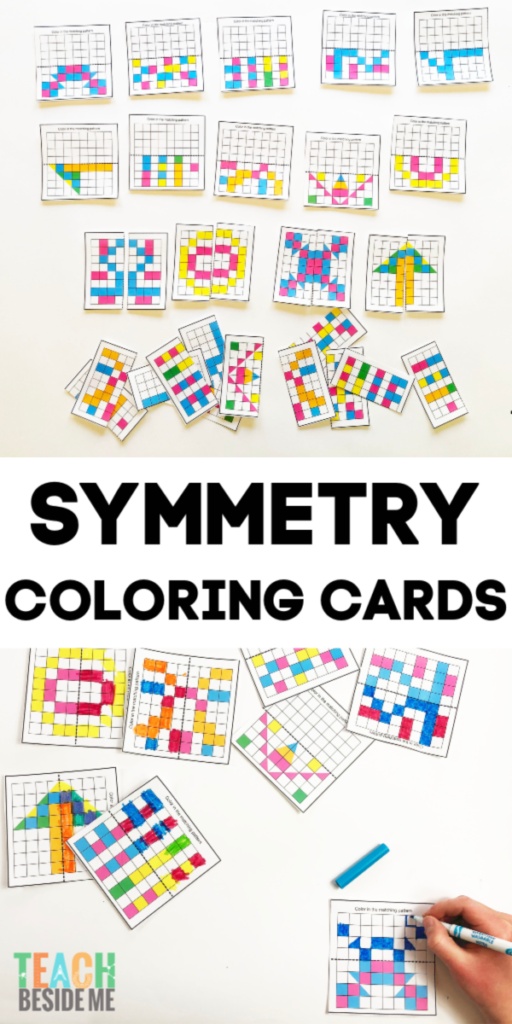 symmetry pattern coloring cards