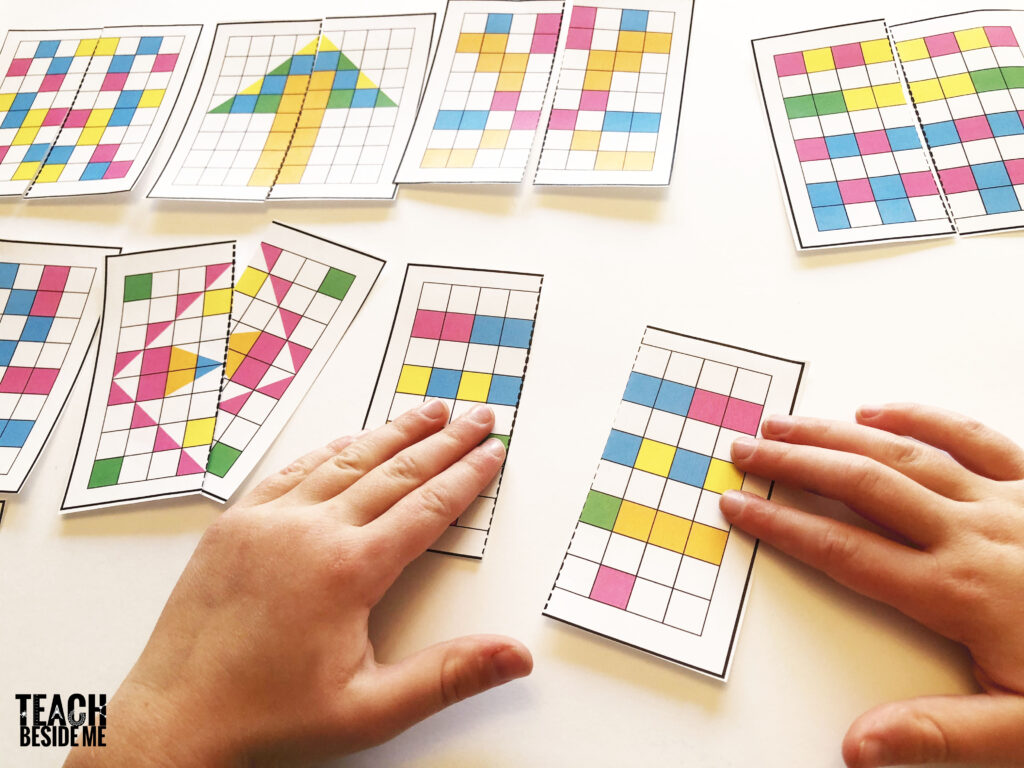 symmetry pattern matching cards
