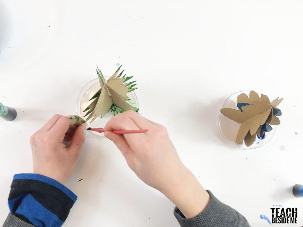 making a crystal christmas tree
